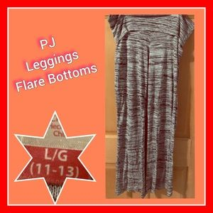 PJ Leggings w/ Flare Bottoms